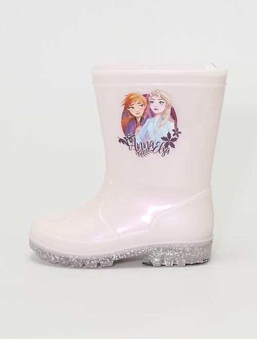 Bottes en plastique 'La Reine des neiges''Disney'                             rose