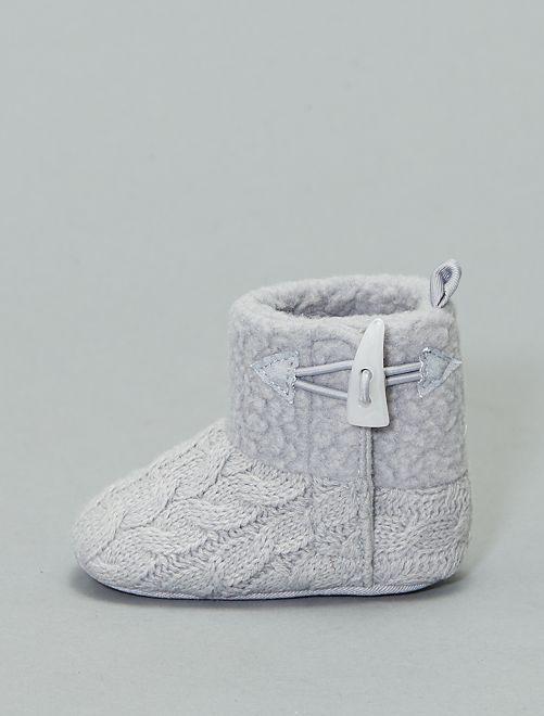 Bottes en tricot                                         gris