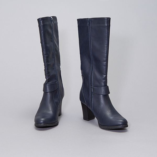 Bottes Type Cavaliere Femme Bleu Navy Kiabi 32 00