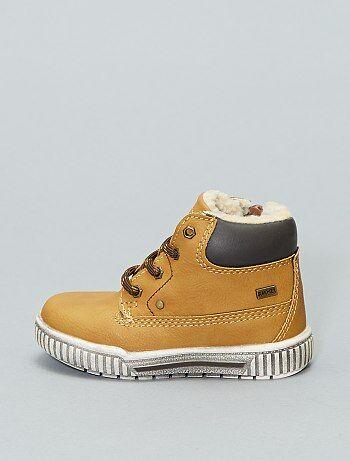 111e2d162d0e6 Boots garçon - bottes de pluie   bottes à lacets enfant garçon ...