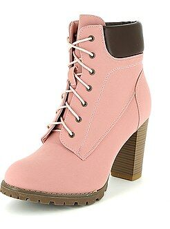 Boots, bottines - Bottines à talons style rangers