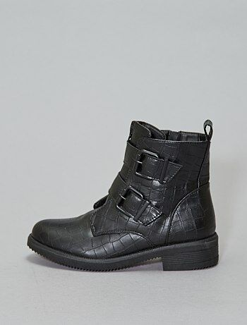 Bottines croco