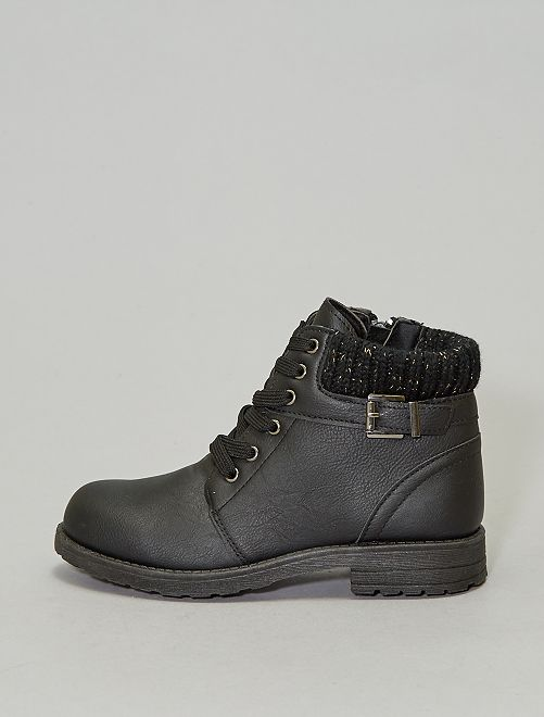 Bottines en simili                             noir