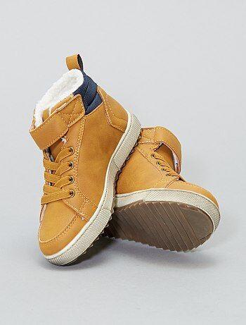 Chaussures - Bottines fourrées esprit baskets - Kiabi