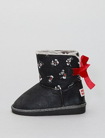 Bottines fourrées 'Mickey Mouse' - Kiabi
