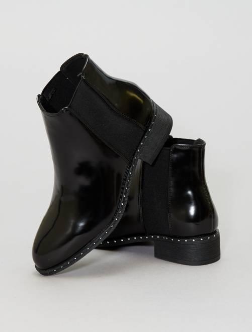 Bottines irisées à clous                                         noir Chaussures