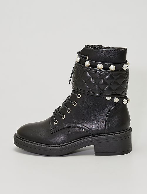 Bottines style rangers                             noir