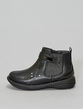 Bottines type chelsea 'cœur'