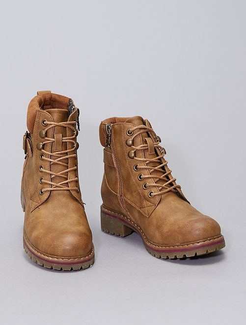 Bottines type montagne                             camel