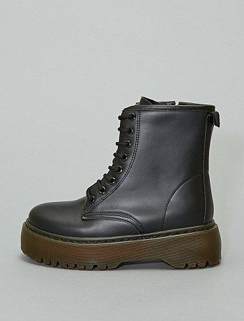 Bottines type rangers