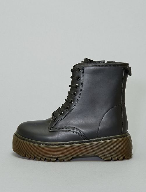 Bottines type rangers                             noir