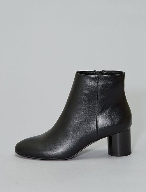 Bottines unies vernies                             noir