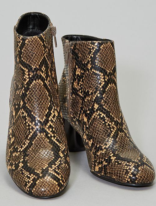 Bottines vernies                                                     serpent