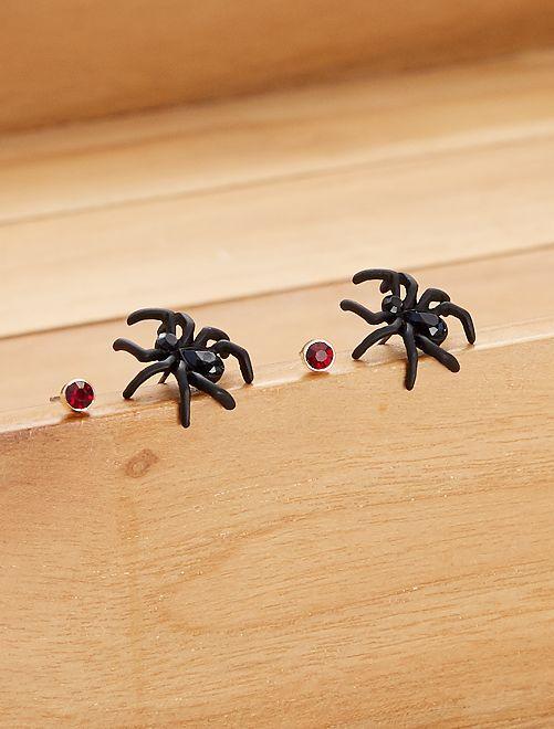 Boucle d'oreilles araignées                                         noir