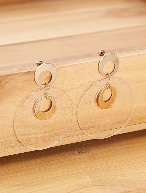 Boucle d'oreilles rondes                             doré