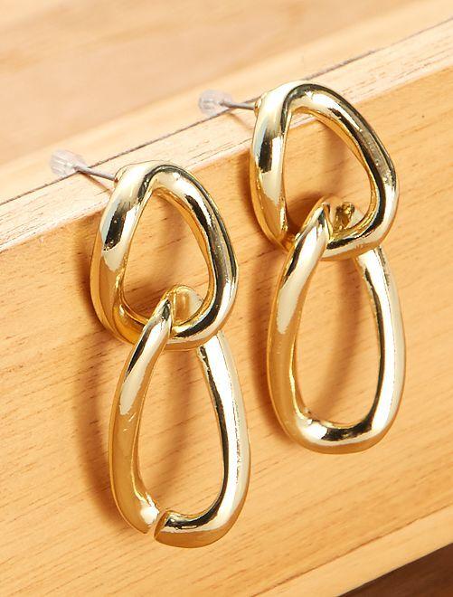 Boucles d'oreilles maillons                                         doré