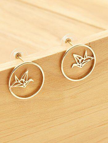 Boucles d`oreilles `origami`