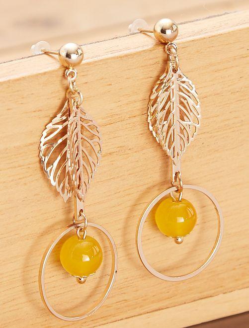 Boucles d'oreilles pendantes                             doré Femme