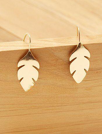 Boucles d'oreilles 'plume' - Kiabi