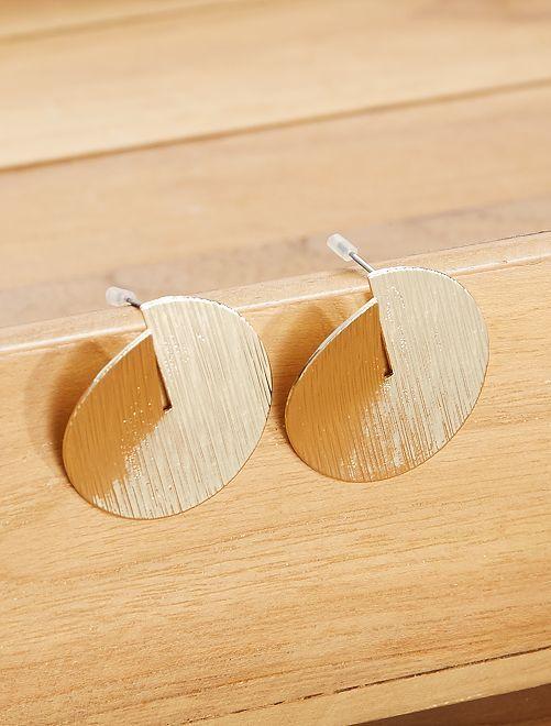 Boucles d'oreilles puces                             doré