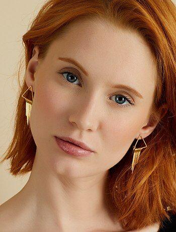 Boucles d'oreilles triangle - Kiabi