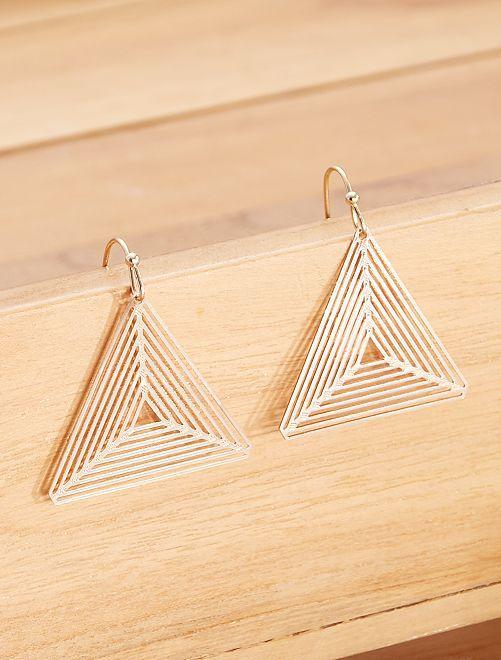 Boucles d'oreilles 'triangle'                             doré