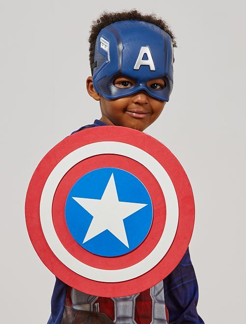 Bouclier en mousse 'Captain America'                             rouge Enfant
