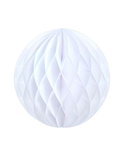 Boule de papier alvéolée 12 cm                                                                                         blanc