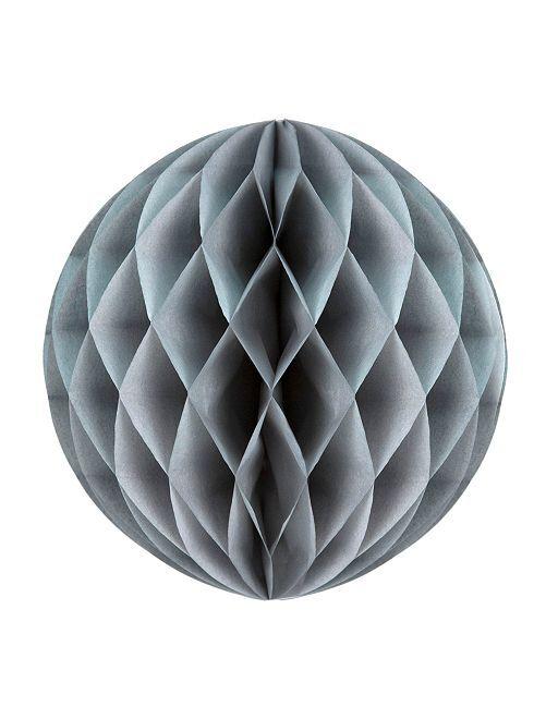 Boule de papier alvéolée 12 cm                                                                                         gris