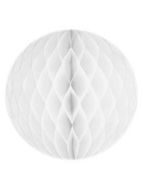 Boule de papier alvéolée 20cm                                                                                         blanc