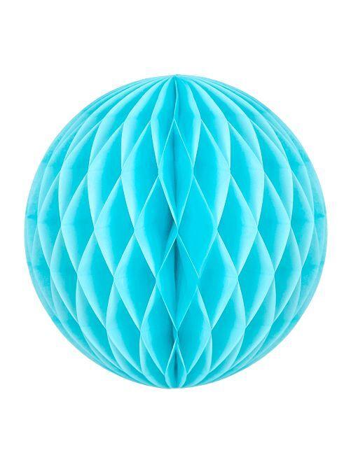 Boule de papier alvéolée 20cm                                                                                         bleu ciel