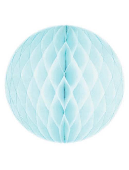 Boule de papier alvéolée 20cm                                                                                                                 bleu clair Linge de lit