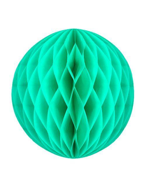 Boule de papier alvéolée 20cm                                                                                         vert d'eau