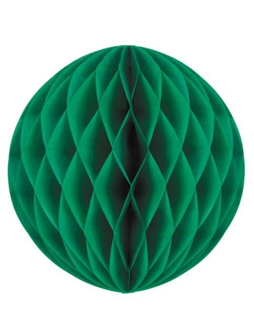 Boule de papier alvéolée 20cm                                                                                                                 vert sapin Linge de lit