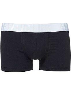 Homme du S au XXL Boxer bicolore en coton stretch