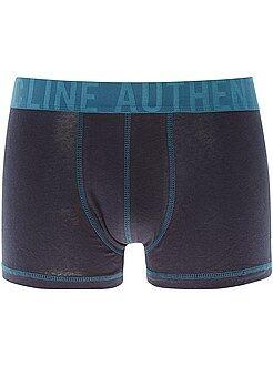 Sous-vêtements - Boxer bicolore en coton stretch