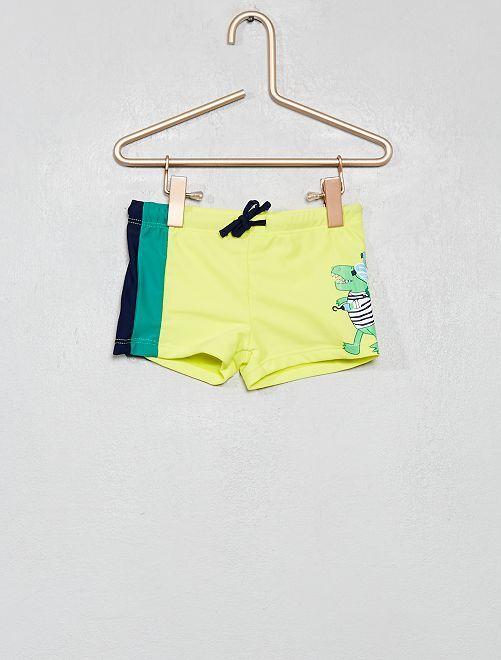 Boxer de bain 'dinosaure'                                         jaune