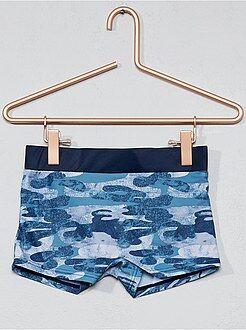 Maillot de bain, plage - Boxer de bain en maille stretch - Kiabi