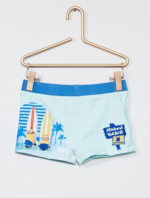 Boxer de bain 'Les Minions'                             bleu pâle