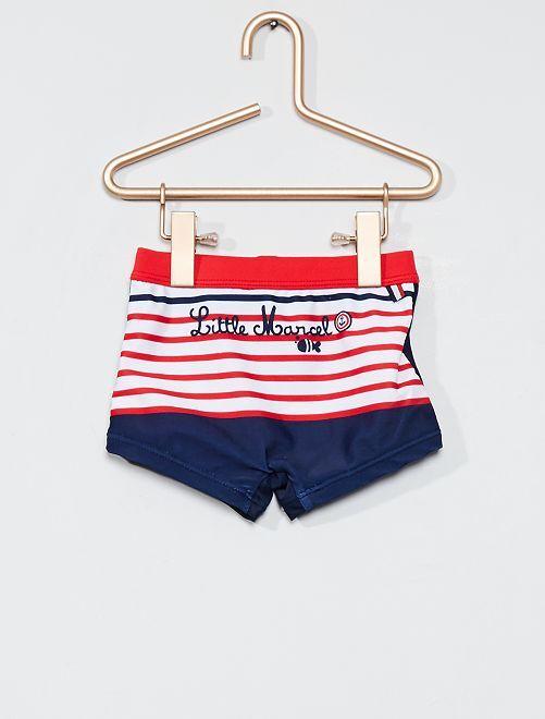 Boxer de bain 'Little Marcel'                             bleu/rouge/blanc