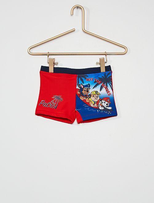 Boxer de bain 'Pat'Patrouille'                             rouge/bleu