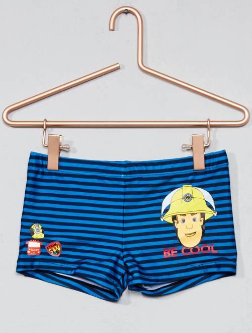 Boxer de bain 'Sam le pompier'                             bleu