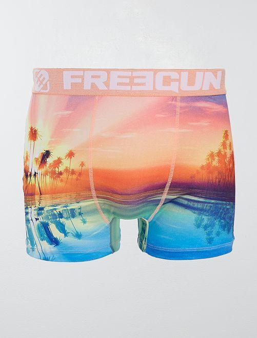 Boxer 'Freegun' 'coucher de soleil'                             multicolore Homme