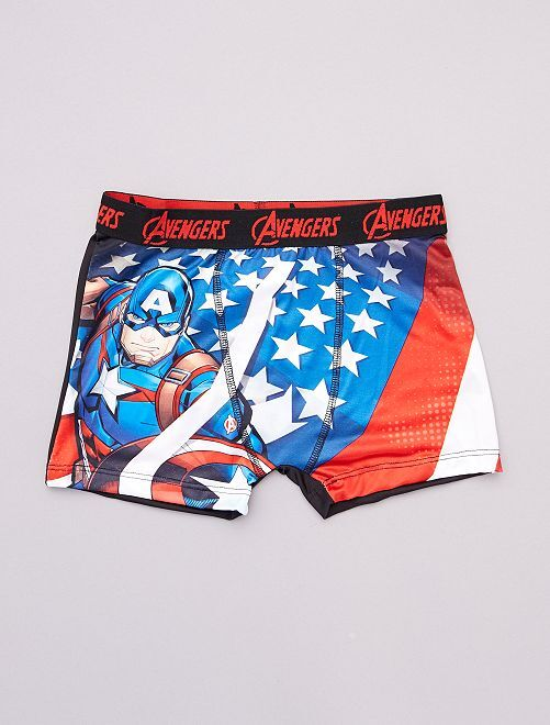 Boxer 'Freegun' imprimé 'Avengers'                             bleu