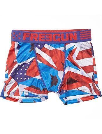 Boxer 'Freegun' imprimé 'Drapeau Américain' - Kiabi