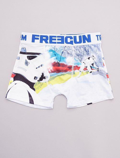 Boxer 'Freegun' imprimé 'Star Wars'                             blanc