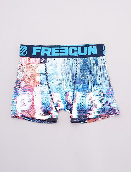 Boxer 'Freegun' 'New York'                             bleu