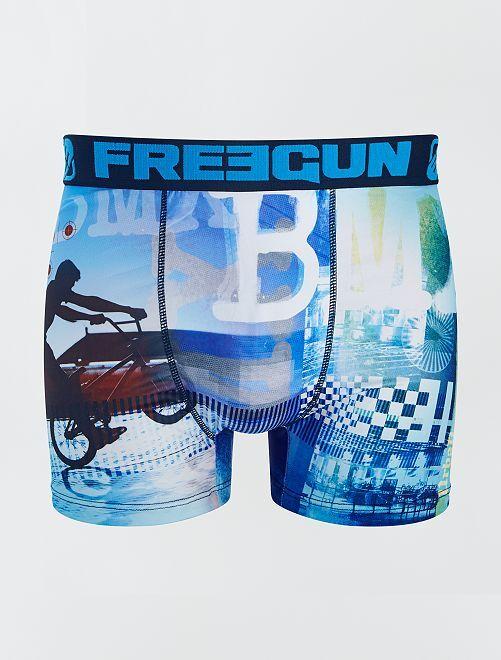 Boxer microfibre 'BMX' 'Freegun'                             bleu
