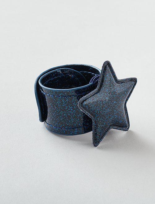Bracelet clap 'étoile'                                         bleu marine