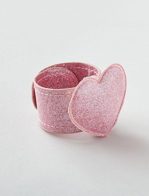 Bracelet clap 'étoile'                                         rose